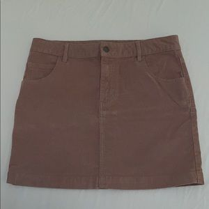 Rose pink corduroy mini skirt!